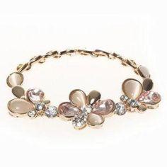 Jeweled Bracelet Gold - One Size Initial Pendant, Initials, Fine Jewelry, Jewels, Diamond, Bracelets, Gold, Accessories, Fashion