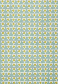 Fabric | Pennant in Pool / Lime | Schumacher