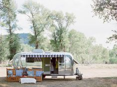 House your bridal party in a trailer before the ceremony | Susan Montagna