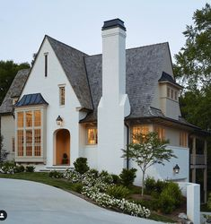 The Best White Paint Colors for Exteriors – Plank and Pillow - Home & DIY Style At Home, Exterior Paint, Exterior Design, Exterior Shutters, Painted Brick Exteriors, Br House, Cottage House, Brick Cottage, Cozy Cottage
