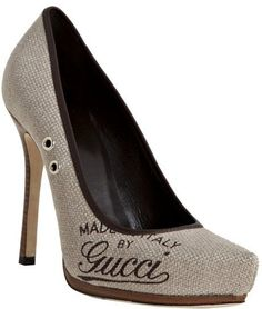 Coconut Canvas Winona Pumps by Gucci...want...