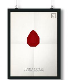 Pôster/Quadro minimalista Harry Potter e a Pedra Filosofal