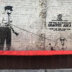 """Graffiti area"" by #banksy #polly_street_art #стритарт"