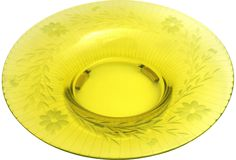 Chartreuse Cut Glass Centerpiece on @One Kings Lane Vintage & Market Finds by Ruby + George $89