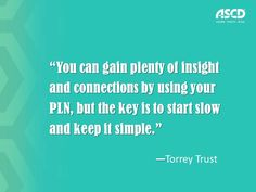 PhD student Torrey Trust on building a PLN and avoiding information overload