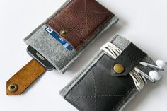 made to measure  ram LEATHER & FELT case by BRIGHTfeltANDleather