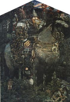 The Bogatyr (Hero) - : Canvas Art, Oil Painting Reproduction, Art Commission, Pop Art, Canvas Painting Hand Painting Art, Texture Painting, Soviet Art, Renaissance Paintings, Art Database, Oil Painting Reproductions, Russian Art, Native Art, Modern Art
