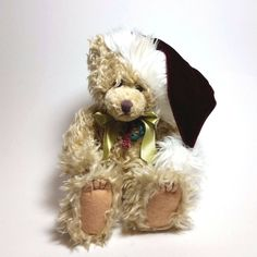 First & Main Scraggles Christmas Teddy Bear Plush Stuffed Animal Toy Child Gift Large Teddy Bear, Mini Teddy Bears, White Teddy Bear, Teddy Bear Gifts, Teddy Toys, Vintage Teddy Bears, Christmas Teddy Bear, Christmas Animals, Cozy Christmas