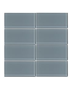 Our Cadet Gray 3x6 glass subway tile is crafted from the highest quality glass using 100% recycled materials. This light gray tile with blue undertones is unique to our line up. Each tile is hand insp