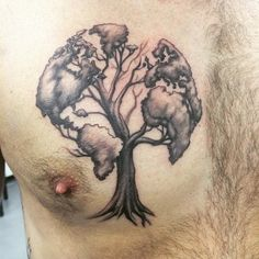 Globe Tree http://tattooideas247.com/globe-tree/