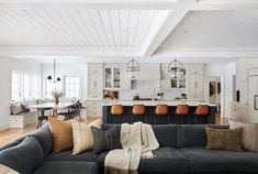 Tour the ultimate dream house in beautiful Southern California Home Decor Styles, Home Living Room, Home, Amber Interiors, House Styles, Cozy Living Spaces, House Interior, Kitchen Design Plans, Home And Living