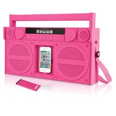iHome iP4 Portable FM Stereo Boombox for iPhone® and iPod® - Brookstone