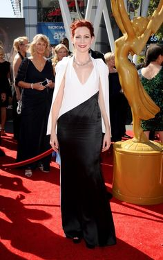 Carrie Preston arrives at the 2013 Primetime Creative Arts Emmy Awards, on Sunday, September 15, 2013 at Nokia Theatre L.A. Live, in Los Ang...