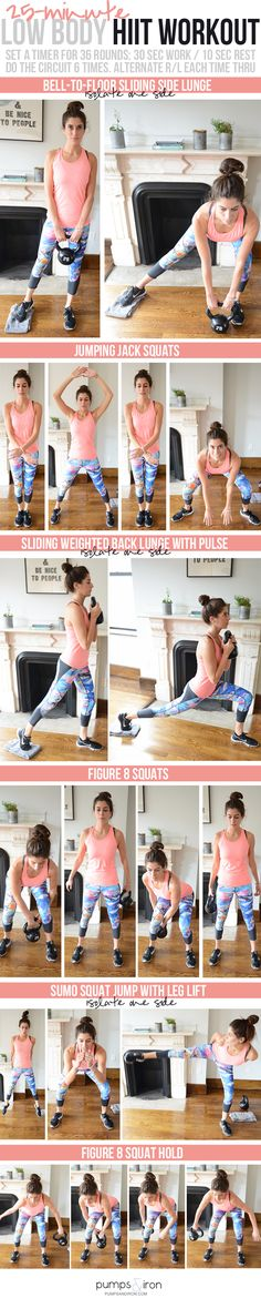 Low Body HIIT Workout (weight optional) - Pumps & Iron