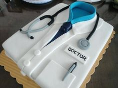 Birthday Cake For A Medical Doctor Birthday Cakes Birthday Cakes For Medical Doctors Birthday Cakes For Men, Doctor Birthday Cake, Doctor Cake, Special Birthday Cakes, Fancy Cakes, Cute Cakes, Fondant Cakes, Cupcake Cakes, Bolo Chanel