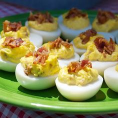 Deviled eggs is a classic picnic favorite that always gets devoured quickly at potlucks and family gatherings. In fact, it's always a bit of a disappointment if someone doesn't bring them. The addition of crumbled bacon brings extra flavor to this version.