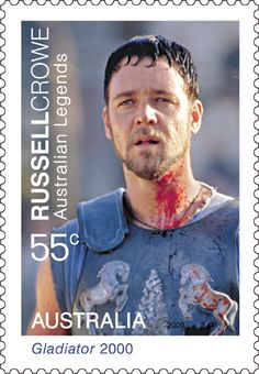 Russell Crowe in Gladiator - 2009 Australian Legends #stamps