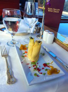 Great food on the Napa Valley Wine Train
