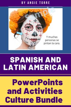These lessons fulfill the world language culture standard & are for Spanish 1 through AP. Students learn how people in Spanish-speaking countries celebrate holidays and the cultural practices unique to these countries (Las posadas, el día de los muertos, la sobremesa, etc.) and the vocabulary. Includes PowerPoints, digital & printable activities, Google Slides, autocorrecting Google Forms, Google Drive, Interactive Notebook and crafts, projects, and videos. Ap Spanish, How To Speak Spanish, Spanish Activities, Learning Spanish, Spanish Speaking Countries, World Languages, Grammar And Vocabulary, Spanish Language, Interactive Notebooks