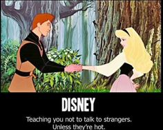 oh my word, it's true. Aren't all the princes stranger's? Phillip, Aladdin, Eric, Flynn, ....