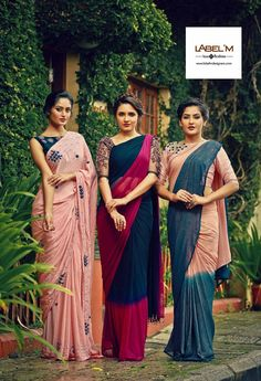 Simple sarees, elegant blouses Indian Sarees Click visit link above to read Simple Sarees, Trendy Sarees, Fancy Sarees, Saris, Indian Dresses, Indian Outfits, Moda Indiana, Saree Trends, Casual Saree