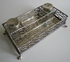 A rare George III Provincial silver inkstand Thomas Howell, Bath, English, Bath, Silver, Decor, Bathing, Decoration, English Language, Decorating, Bathroom