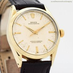 1960's Vintage Rolex Oyster Perpetual Ref. 1025 14k Yellow Gold Shell Over Stainless Steel Watch