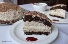 Torcik urodzinowy – ciasto kakaowe z bezą i masą bananową   Relax Time