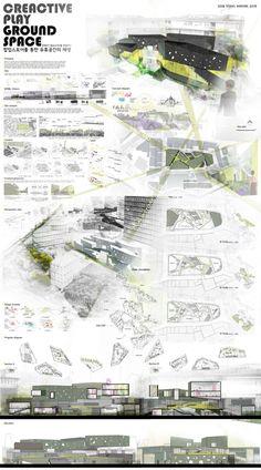 이미지 사이즈 : 800 x 1440    이미지 사이즈가 화면보다 큽니다.   왼쪽 버튼을 클릭한 후 마우스를 움직여서 보세요.    더블 클릭하면 닫혀요. Presentation Board Design, Architecture Presentation Board, Architecture Board, Urban Architecture, Architecture Portfolio, Project Presentation, Landscape Plans, Layout Design, Architectural Presentation