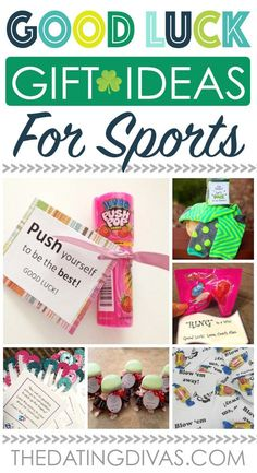 Whether it's good luck cards or fun good luck gift ideas, we have OVER 100 of the cutest and most creative ideas to wish someone good luck! Soccer Gifts, Cheer Gifts, Cheerleading Gifts, Gifts For Cheerleaders, Diy Volleyball Gifts, Cheer Gift Bags, Cheer Treats, Soccer Treats, Volleyball Sayings