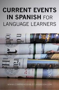 nice Weekly news stories in Spanish delivered to your inbox–news summaries from the Spanish speaking world. Perfect for Spanish students and language learners! Ap Spanish, Spanish Lessons, How To Speak Spanish, French Lessons, Spanish Culture, Spanish Projects, Spanish Alphabet, Spanish Teaching Resources, Spanish Activities