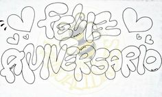 Birthday Party Decorations, Birthday Parties, My Boyfriend, Psychedelic, Diy And Crafts, Doodles, Pastel, Lettering, Dark