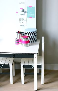 Funky little table and chairs for drawing and creating.