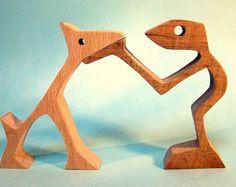 """Scultura legno smerlato """"hai dei bellissimi occhi che sai..."""""""