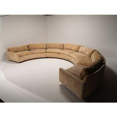 Delicieux A Very Large Scale Curved Sofa Designed By Milo Baughman For Thayer Coggin.  It Retains