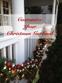 Decor Amore: How To Customize Christmas Garland