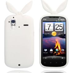 Bunny (Hvit) HTC Amaze 4G Deksel Bunny, Phone, Cover, Amazing, Telephone, Hare, Phones, Rabbits, Blanket