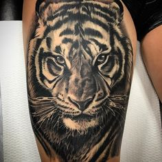 awesome 60 Awe-inspiring Tiger Tattoo Ideas - Take a Great Pride In Check more at http://stylemann.com/best-tiger-tattoo-ideas/