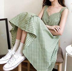 Korean Girl Fashion, Ulzzang Fashion, Korean Street Fashion, Korean Street Styles, Korean Fashion Pastel, Korean Fashion Summer, Korea Fashion, Korean Style, Cute Casual Outfits