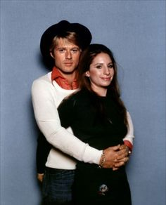 "Barbra Streisand with Robert Redford (publicity photo for ""The Way We Were. Robert Redford, Robert Pattinson, Hollywood Stars, Classic Hollywood, Old Hollywood, Barbara Streisand, Gena Rowlands, Faye Dunaway, Jazz"