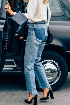 Fall Street Style Outfits to Inspire Fall Street Style fashion week Denim Fashion, Look Fashion, Autumn Fashion, Fashion Outfits, Net Fashion, Fashion Ideas, Denim Outfits, Milan Fashion, Fall Outfits