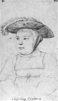 A sketch of Henry VIII-as a baby! He looks slightly less imposing this way, don't you think? Lara E.Eakins.