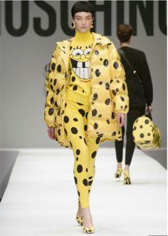 Moschino Fall/Winter ready to wear. The spongebob hype.