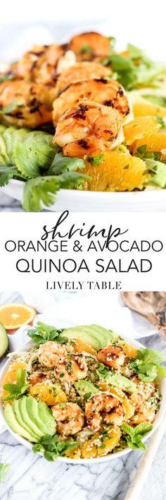 Shrimp, Orange and Avocado Quinoa Salad