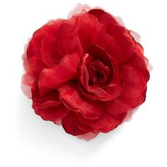 Women's Cara Flower Pin (1,600 INR) ❤ liked on Polyvore featuring jewelry, brooches, red, floral jewelry, floral brooches, flower pin brooch, cara jewelry and red brooch