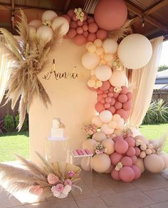 Birthday Balloon Decorations, Birthday Party Decorations, Baby Shower Decorations, Baby Shower Themes, 18th Birthday Party, Baby Birthday, Deco Ballon, Baby Shower Balloons, Balloon Garland