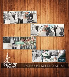 Wedding Facebook timeline cover template Set  photo collage Set  - Photoshop Template Set Instant Download BUY 1 GET 1 FREE : fc360 by DonyDesigns on Etsy
