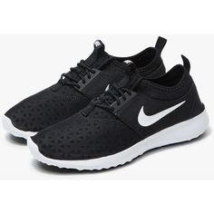 Nike Juvenate in Black ($85) ❤ liked on Polyvore featuring shoes, nike, nike shoes, nike footwear, woven shoes and kohl shoes