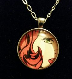 Check out this item in my Etsy shop https://www.etsy.com/listing/271445223/redhead-woman-cartoon-pendant-necklace