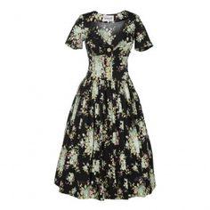 Weekender Dress mint roses